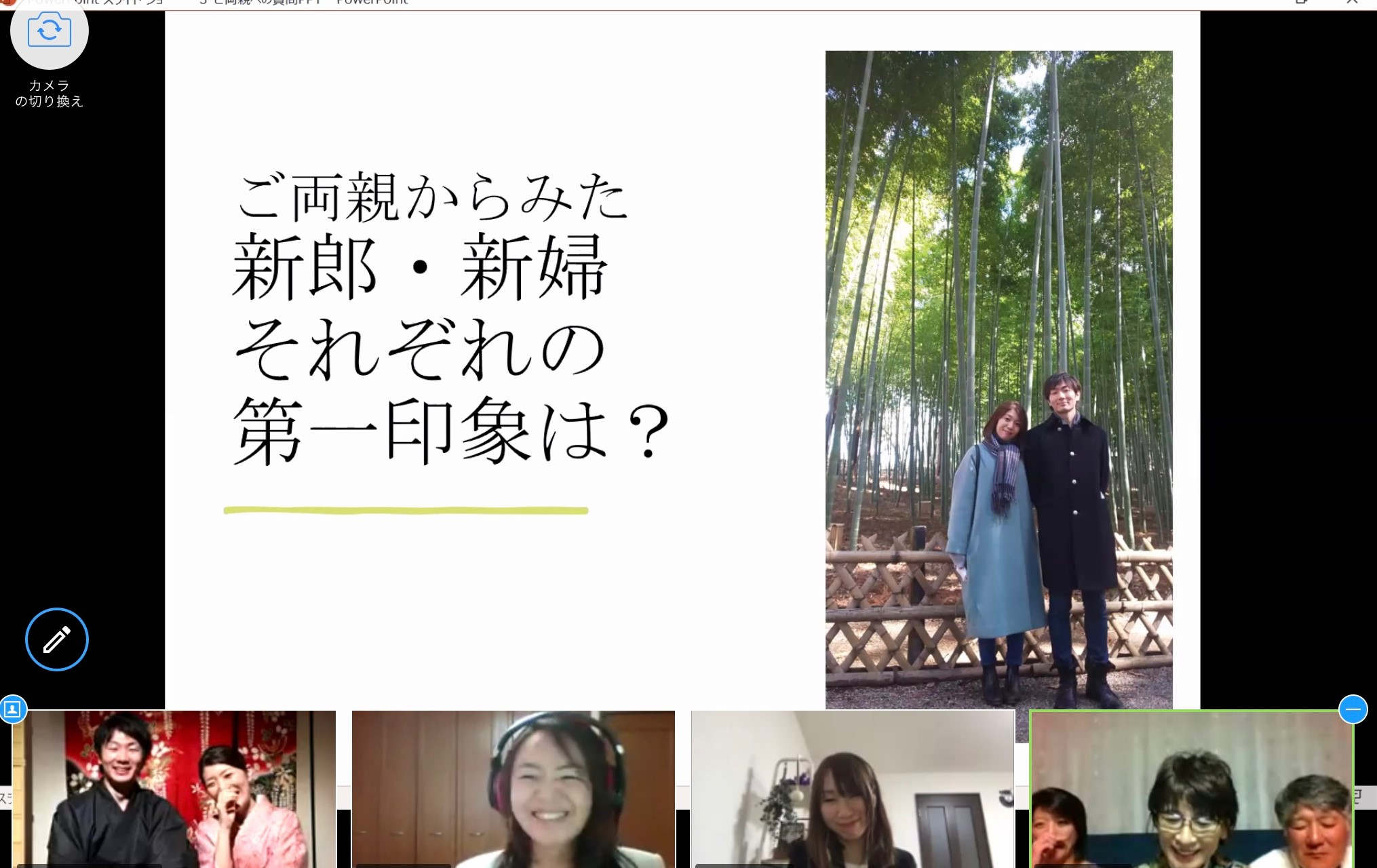 オンライン結婚式レポート①新郎新婦登場~人前式